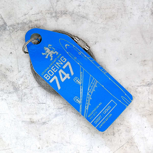 AviationTag Boeing 747-400 Keychain  - PH-BFR