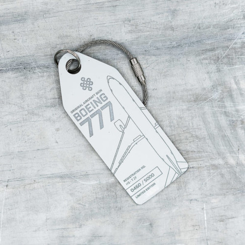 AviationTag Boeing 777-200 Keychain  - HS-TJF