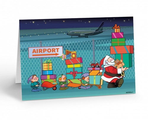 """Airport Package Delivery"" Christmas Card Pack"