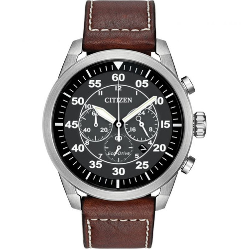 Citizen Avion Chronograph - Brown Leather