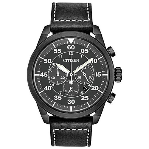 Citizen Avion Chronograph - Black Leather