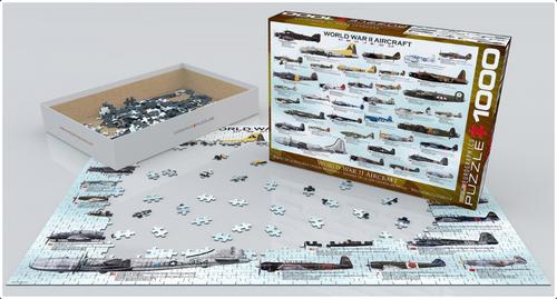 Worldwar II Aircraft Puzzle - 1000 Pieces