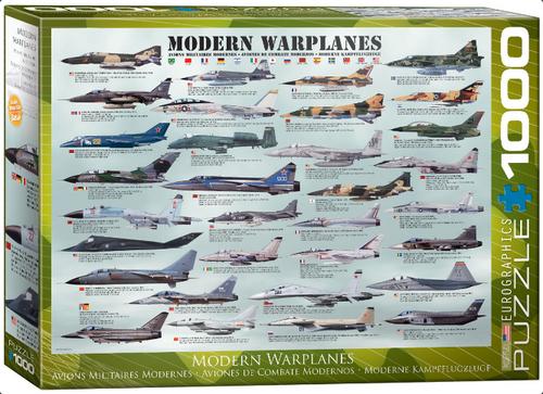 Modern Warplanes Aircraft Puzzle - 1000 Pieces
