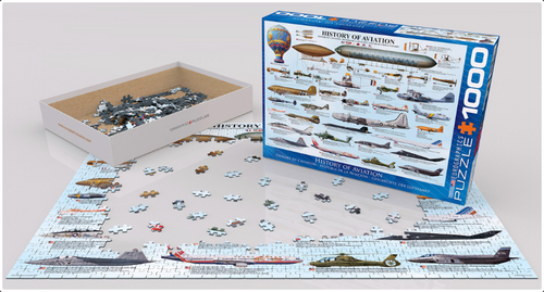 History of Aviation Aircraft Puzzle - 1000 Pieces