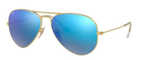 Ray-Ban Aviator Large Metal Matte Gold Frame Non-Polarized Sunglasses