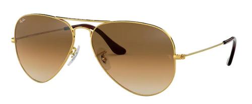 Ray-Ban Aviator Large Metal Gold Frame Non-Polarized Sunglasses