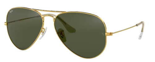 Ray-Ban Aviator Metal Gold Frame Non-Polarized Sunglasses