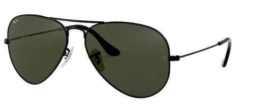 Ray-Ban Aviator Metal Black Frame Non-Polarized Sunglasses