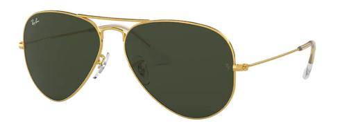 Ray-Ban Aviator Gold Frame Non-Polarized Sunglasses