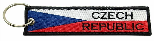 Embroidered Flag Keychain - Czech Republic