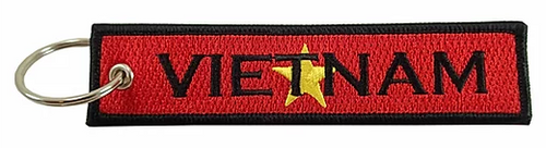 Embroidered Flag Keychain -  Vietnam