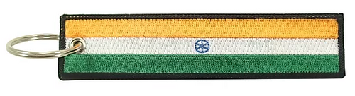 Embroidered Flag Keychain -  India