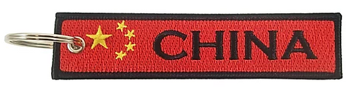 Embroidered Flag Keychain -  China