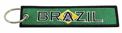 Embroidered Flag Keychain -  Brazil