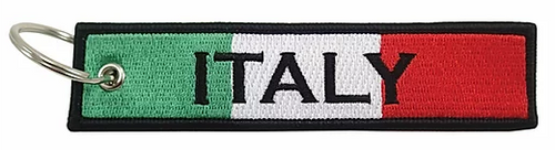 Embroidered Flag Keychain -  Italy
