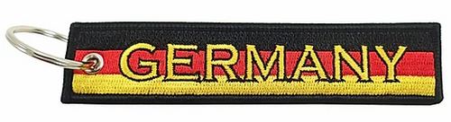 Embroidered Flag Keychain - Germany