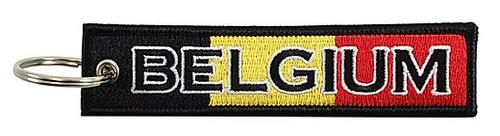 Embroidered Flag Keychain - Belgium