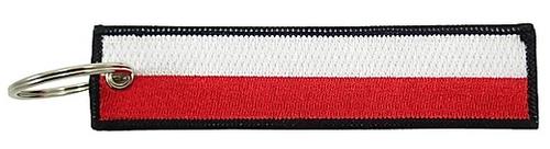 Embroidered Flag Keychain - Poland