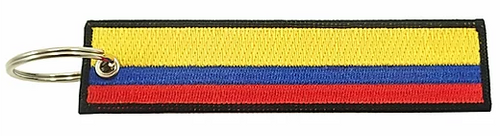 Embroidered Flag Keychain - Colombia