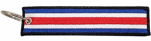 Embroidered Flag Keychain - Costa Rica