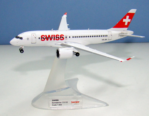Herpa 400 Swiss CS100 (4013150562522)