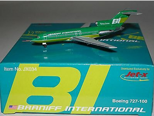 Jet-X 1:400 Braniff International Boeing 727-100 Green (JX034)
