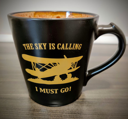 """The Sky is Calling, I Must Go!"" Mug (beige)"