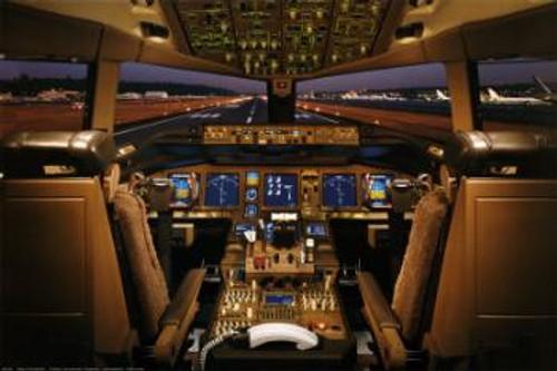 Boeing 777-200 Flight Deck Poster