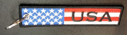 Embroidered Flag Keychain - USA