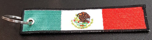 Embroidered Flag Keychain - Mexico
