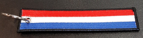 Embroidered Flag Keychain - Netherlands