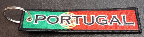 Embroidered Flag Keychain - Portugal