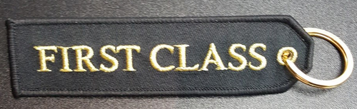 Embroidered Keychain - FIRST CLASS
