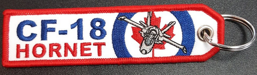 Embroidered Keychain - CF-18 HORNET
