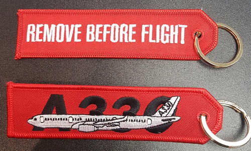 Embroidered Keychain - AIRBUS A330