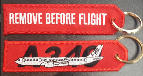 Embroidered Keychain - AIRBUS A340