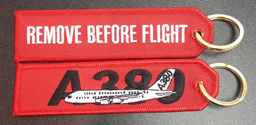 Embroidered Keychain - AIRBUS A380