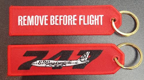 Embroidered Keychain - BOEING 747