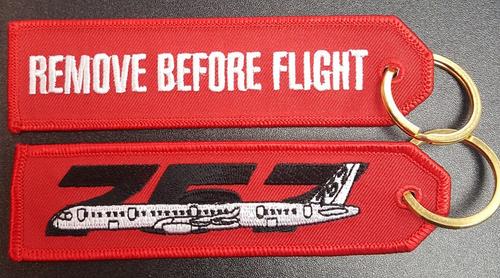 Embroidered Keychain - BOEING 757