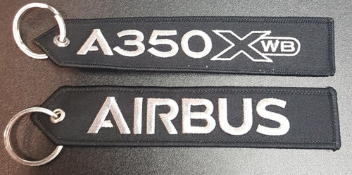 Embroidered Keychain - Airbus A350