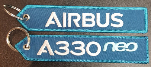 Embroidered Keychain - Airbus A330NEO
