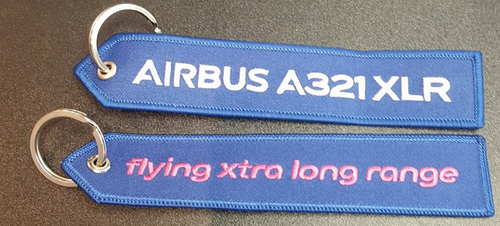 Embroidered Keychain - Airbus A321XLR