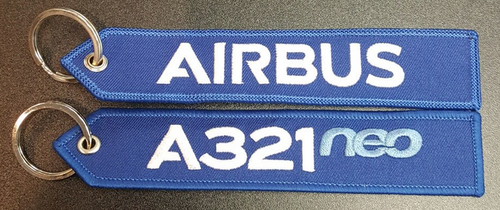 Embroidered Keychain - Airbus A321NEO