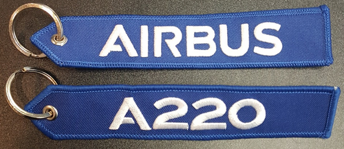 Embroidered Keychain - Airbus A220