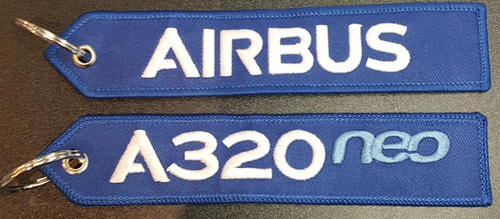 Embroidered Keychain - Airbus A320NEO