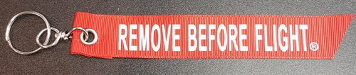"Printed Soft Fabric Keychain - ""REMOVE BEFORE FLIGHT"""