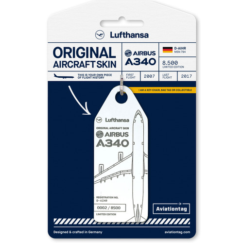 AviationTag Airbus A340-600 Keychain - D-AIHR