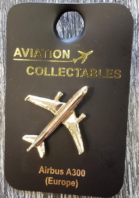 Lapel pin - Airbus A300 - gold-tone
