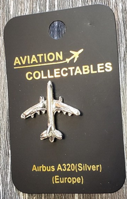 Lapel pin - Airbus A320 - silver-tone