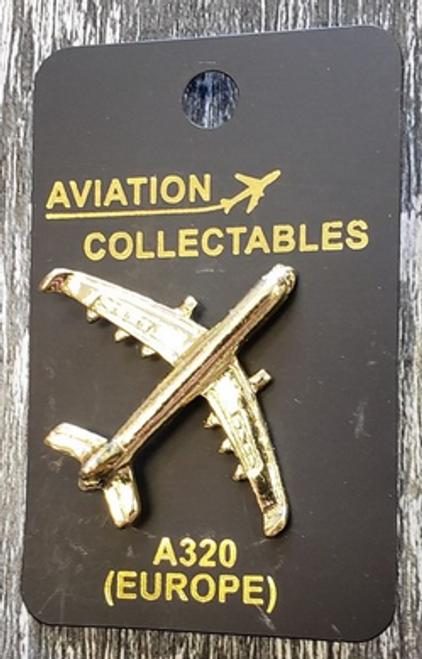 Lapel pin - Airbus A320 - gold-tone